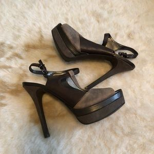Jessica Simpson Two Toned Brown Heels